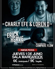 1 JUNIO ALICANTE - CHARLY EFE & LOREN D + ERICK HERVÉ + ELCOMPARE FLOW