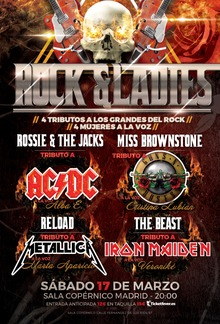 ROCK AND LADIES FEST - Tributos a ACDC, Guns n´roses, Metallica, Iron Maiden