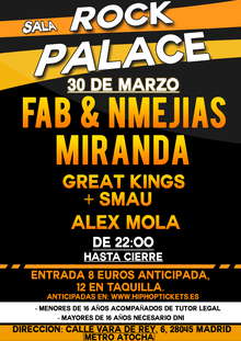 Fab & NMejias + Miranda + Great Kings y Smau + Alex Mola