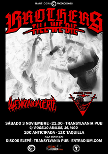 BROTHERS TILL WE DIE + AMENAZA DE MUERTE + ARSON TIDES