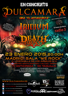 Dulcamara + Iridium + Death and Legacy en Madrid - sala We Rock