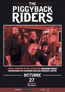 The Piggyback Riders (Sulo y Chris Spedding) en Barcelona