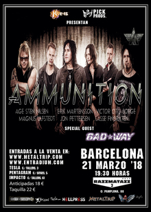 AMMUNITION + Bad Way, Barcelona