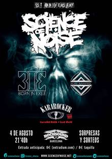 Fiesta Primer Aniversario Science of Noise - Rock Magazine con Born in Exile + Kai Mars + Kararocker